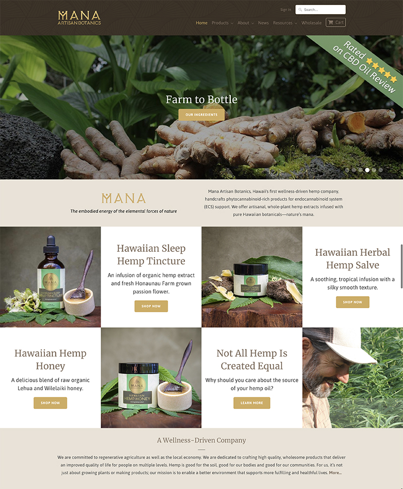 Mana Botanics Affiliate Offer