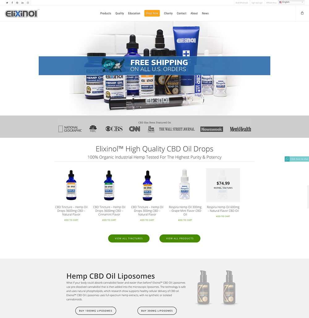 Elixinol Affiliate Program